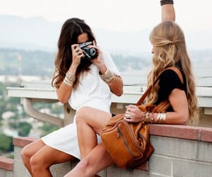 girls, friends, and travel image