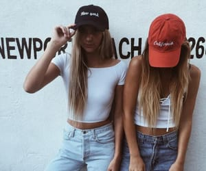 fashion, girls, and friends image