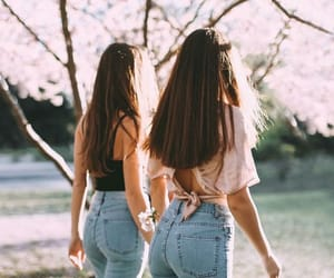 girls, friends, and pinterest image