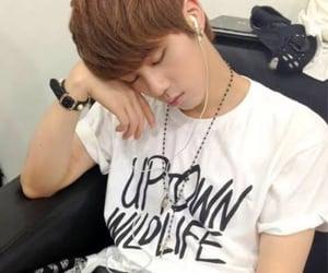 earphones, sleeping, and jin image