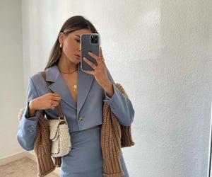 blazer, fashion, and powder blue image