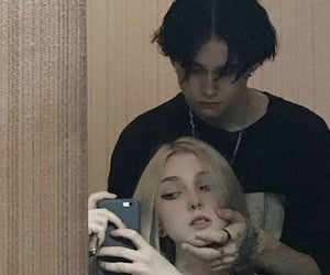 aesthetic, goth, and couple image