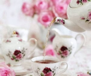 floral, lovely, and pink image
