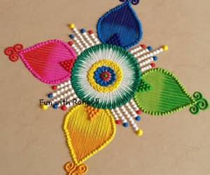 art, rangoli, and rangoli design image