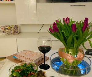 chill, flowers, and dinner image