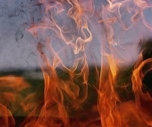 aesthetic, orange, and burn image