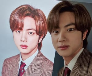 idol, jin, and bangtan sonyeondan image