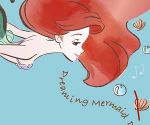 background, the little mermaid, and bubble image
