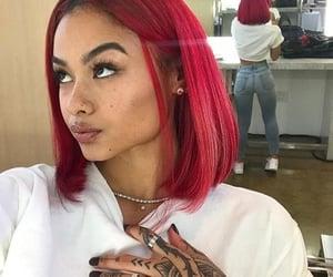 bob, dye, and hairstyle image