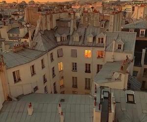 city, sunset, and paris image