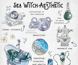 witch, sea witch, and witch aesthetic image