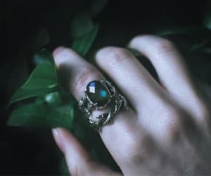 aesthetic, ring, and green image