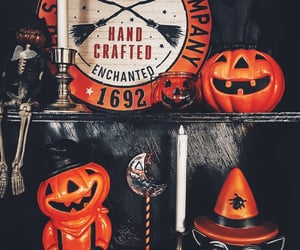 Halloween, gothic decor, and gothic home image