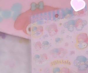 blue, my melody, and pastel image