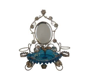 antique mirror, jewelry holder, and jewelry stand image