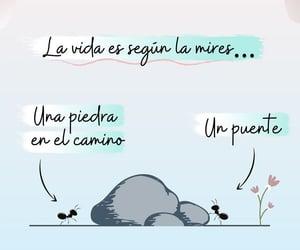 vida, optimismo, and frases español image