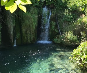 landscapes, waterfall, and natural image