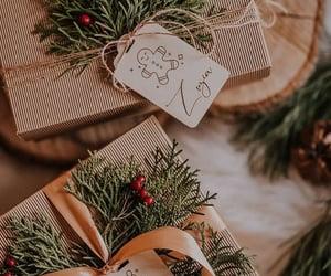 christmas tree, cold, and snow image