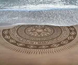 arena, arte, and dibujos image