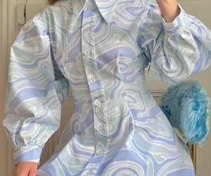 blue, funky, and puff sleeves image