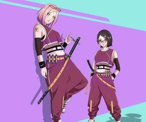naruto, sakura, and haruno sakura image