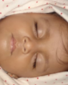 cute baby and sleeping time image