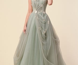 ballgown, dress, and green image