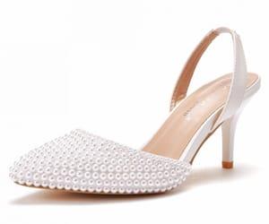high heels, pointed toe, and pearl image