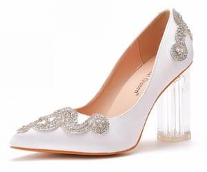 elegant, satin, and high heels image