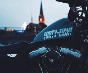 black beauty, harley davidson, and moto image