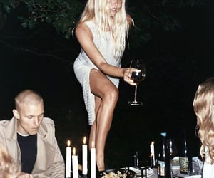 dinner, night, and drinks image