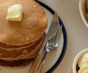 food, pancakes, and yes image