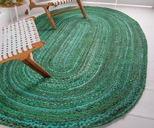 etsy, braided rug, and indoor rugs image