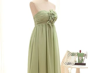 a-line, chiffon, and flower image