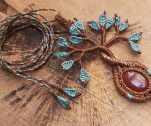handmade, necklace, and macramè image