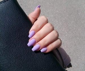 lilacs, long nails, and nails image