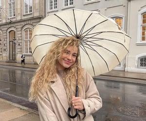 fashion, girl, and rain image