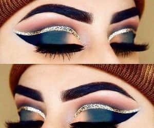 azul, glitter, and beauty image