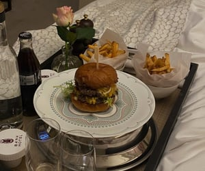 aesthetic, burger, and dinner image