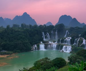 natural, landscapes, and waterfall image