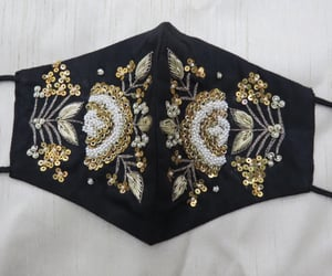 embroidery and fancy face masks image