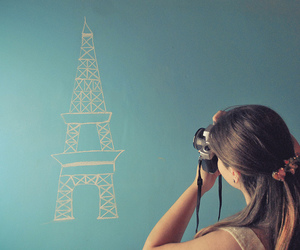 girl, photography, and paris image