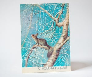 etsy, christmas gift ideas, and snow squirrel image