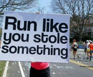 run, funny, and motivation image
