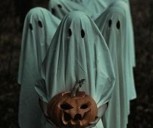 ghost, Halloween, and pumpkin image
