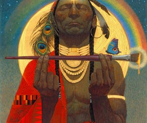 indian, indio, and rainbow image