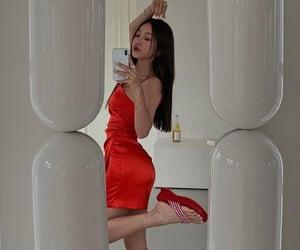 dress, pose, and platform heels image