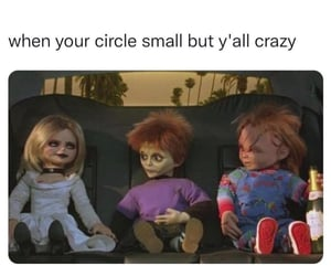 Child's Play, Chucky, and circle image