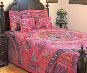 etsy, queen bedding, and antique bed cover image