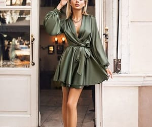 Chic A-Line Long Sleeves Hunter Green Silk Satin Short Evening Party Dresses with Belt sold by Anniebride on Storenvy